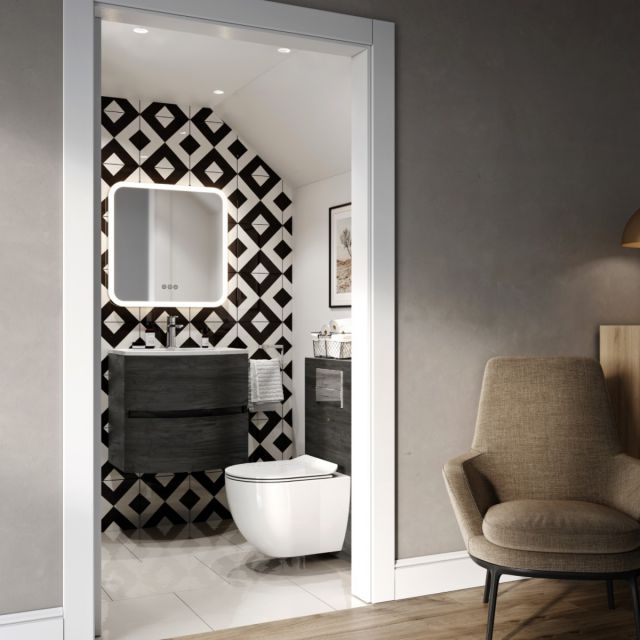 Crosswater Abstract Wall Cloackroom Suite