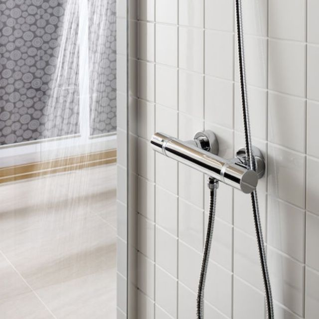 Roca T1000 Thermostatic Shower Mixer Set in Chrome