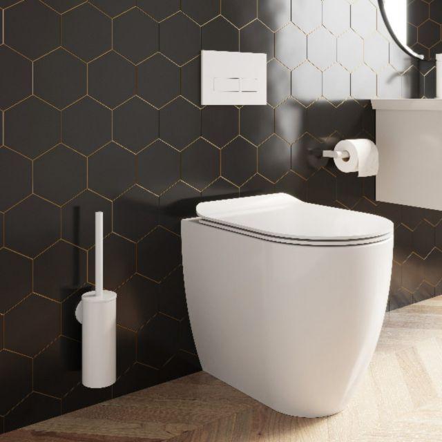 Crosswater MPRO Matt White Wall Hung Toilet Brush - PRO025W+
