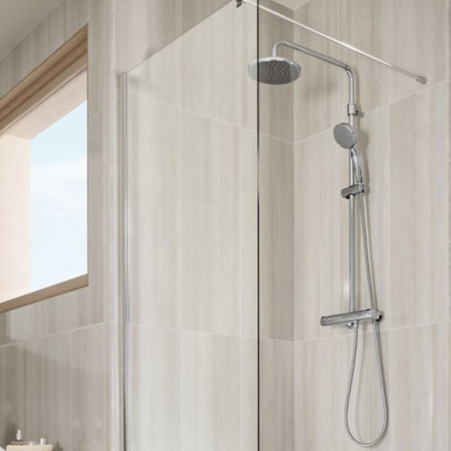 Roca Victoria Thermostatic Chrome Shower Column