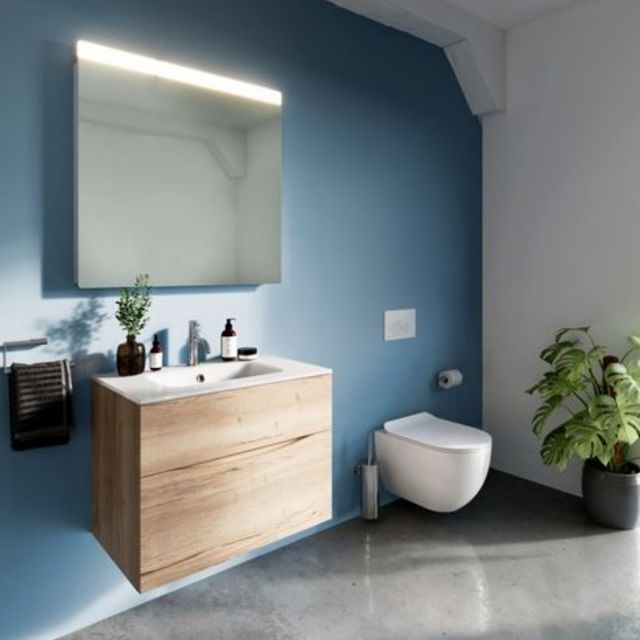 Crosswater Glide II Wall-Mounted Vanity Unit With Glass Basin