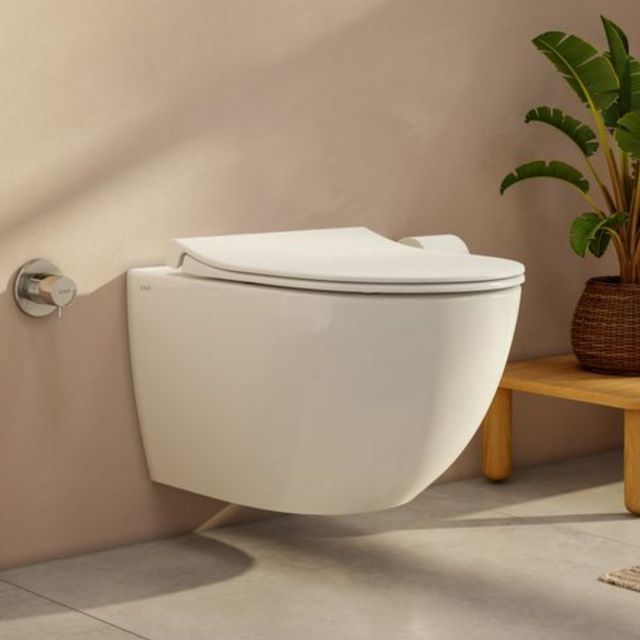 Vitra Aquacare Sento Rimless Wall Hung Bidet Toilet with wall mounted manual stop valve - 77480036202