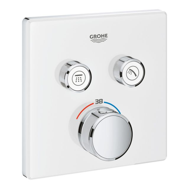 Grohe Grohtherm SmartControl Thermostat with Two Outlets in White