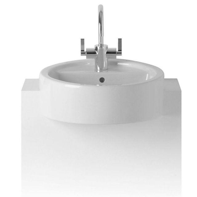 Ideal Standard White Round 45cm Semi Countertop Basin