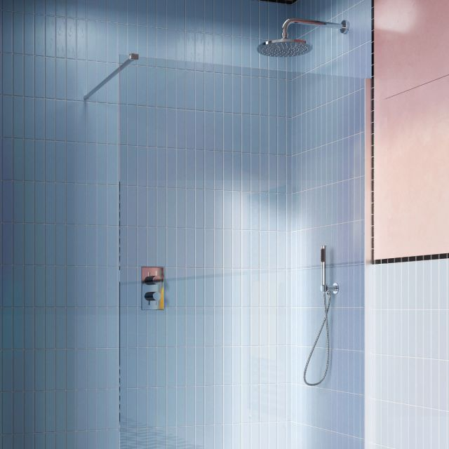 Crosswater MPRO Chrome 2 Outlet, 2 Handle Shower Bundle - GTLPRO1510C
