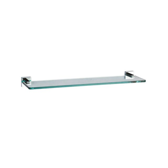 Crosswater Zeya 50cm Glass Bathroom Shelf