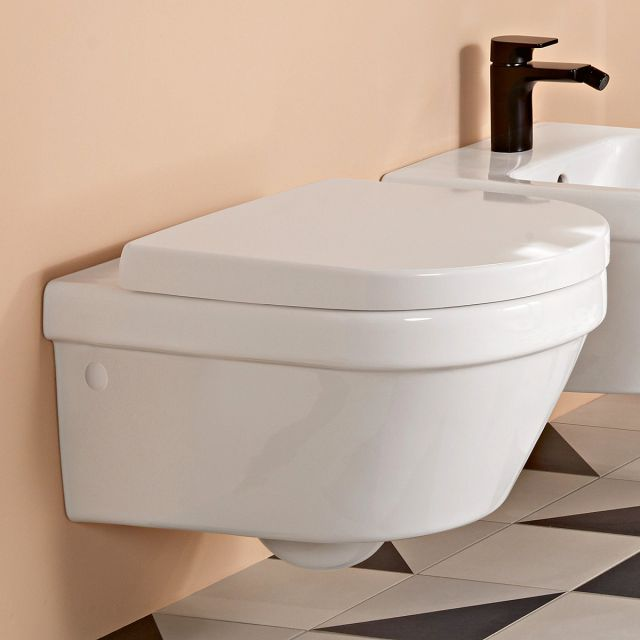 Villeroy and Boch Architectura Wall Mounted Rimless Concealed Fixing WC Combi Pack - 4694HR01