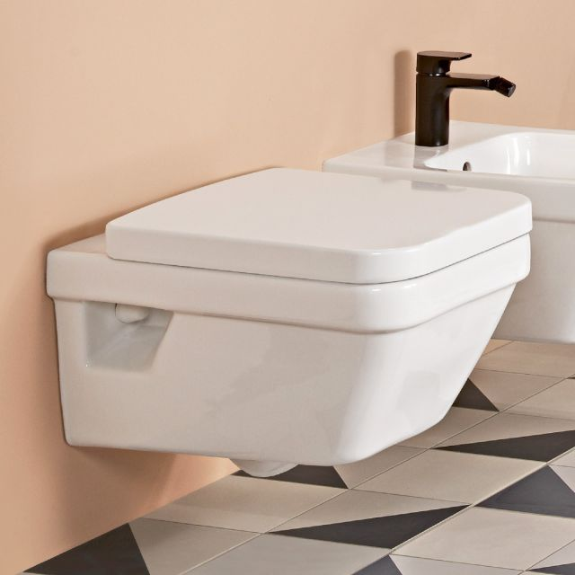 Villeroy and Boch Architectura Square Wall Mounted Rimless WC Combi Pack - 5685HR01