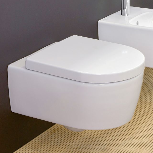 Villeroy and Boch Avento Wall Mounted Rimless with Original Seat WC Combi Pack - 5656HR01