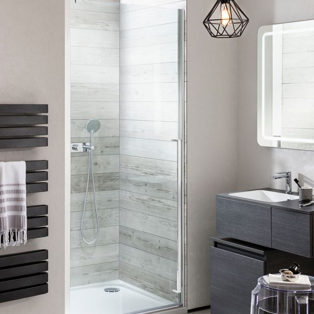 Crosswater Pier Hinged Shower Door