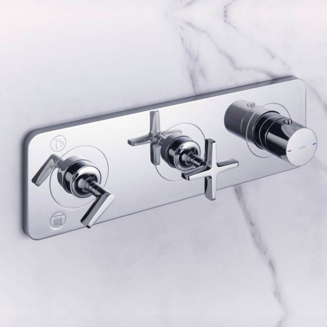 AXOR Citterio E Thermostatic Shower Finish Set with 2 Outlets - 36703000