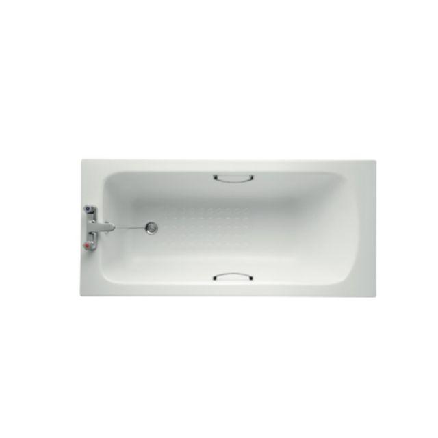 Armitage Shanks Sandringham 21 Bath 1500mm 2 Tapholes With Handgrips And Tread Pattern - E0286