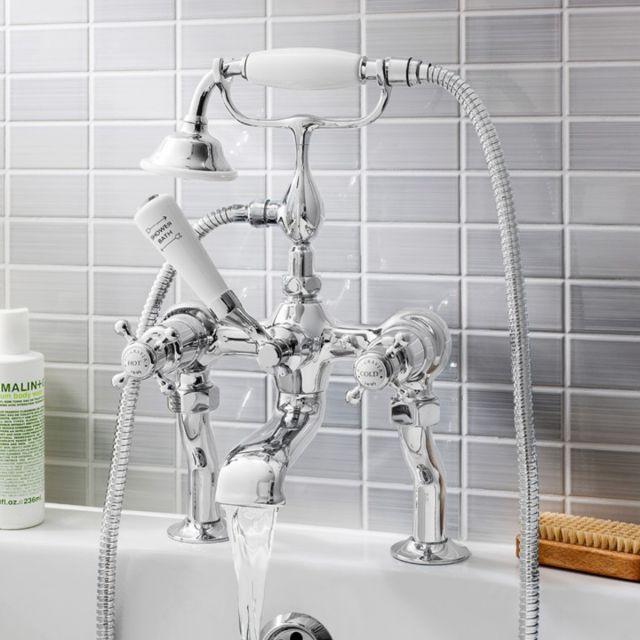 Crosswater Belgravia Crosshead Bath Shower Mixer Tap With Kit