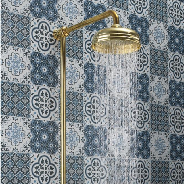 Crosswater Belgravia Exposed Thermostatic Shower Kit in Unlacquered Brass - BEL_SHOWERQ