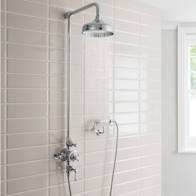 Crosswater Belgravia Thermostatic Shower Kit with Wall Cradle