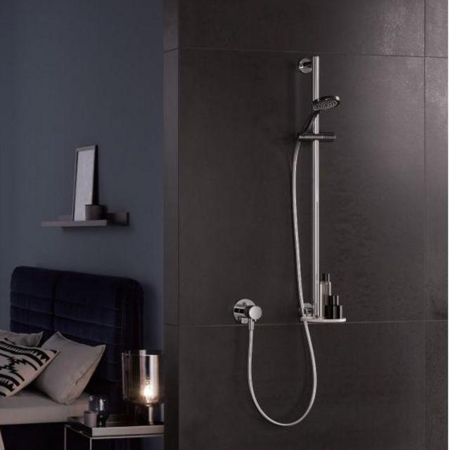 Keuco IXMO Shower Set with Swivelling Shelf