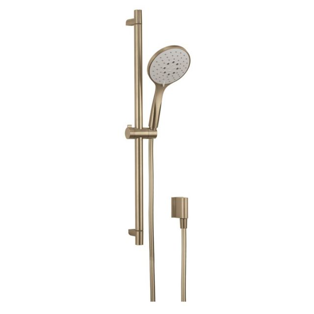 Crosswater MPRO Brushed Brass Shower Rail Kit