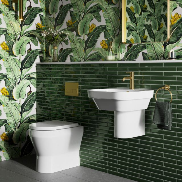 Britton Curve2 Rimless Back to Wall WC with Soft Close Seat - CUR2.001