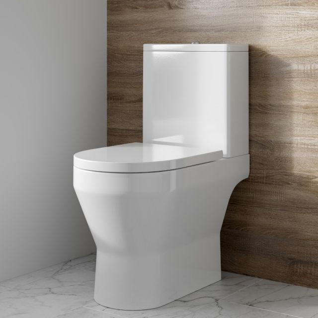 Britton Curve2 Open Back Rimless Close Coupled Toilet - CUR2.004