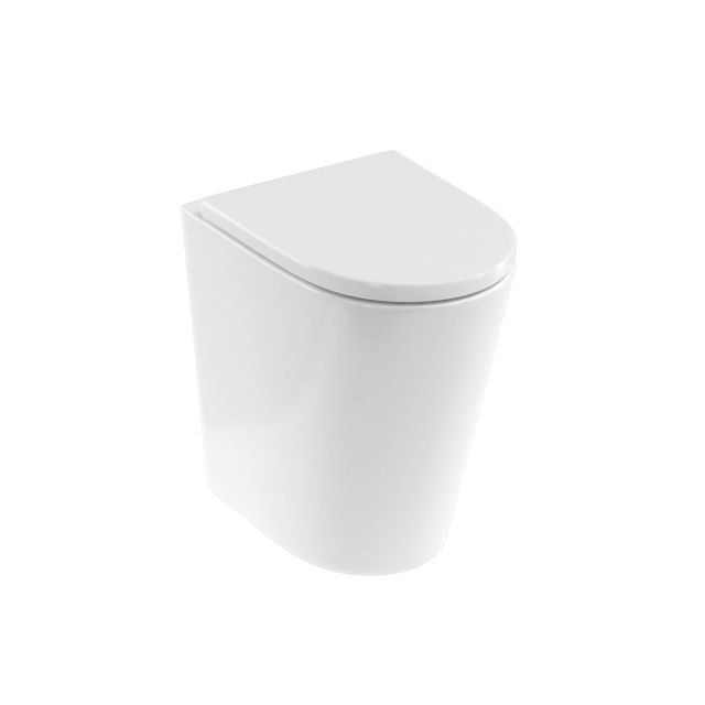 Britton Sphere Tall Rimless Back to Wall Toilet