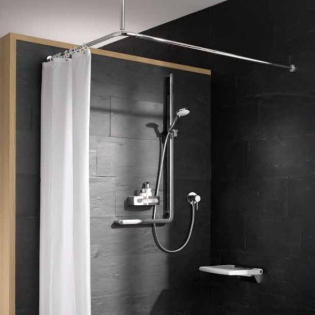 Keuco Plan Care Shower Curtain Rail
