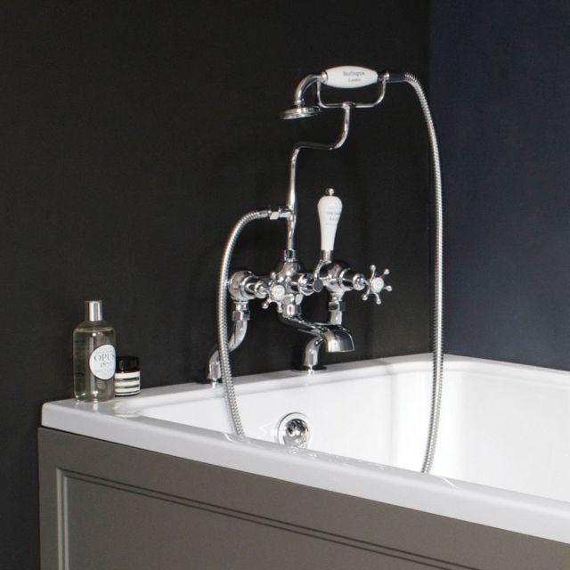 Burlington Birkenhead Deck Mounted Bath Shower Mixer Tap - T3/T18