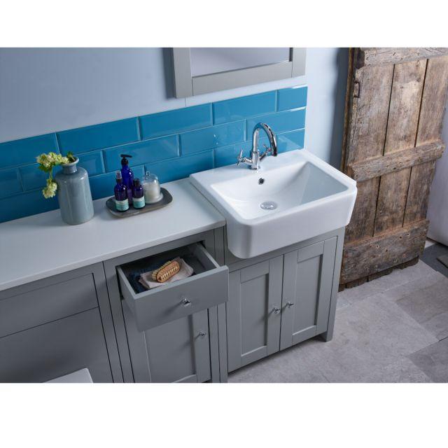 Tavistock Lansdown 600 Vanity Unit with Semi Recessed Basin