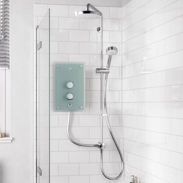 Mira Azora Dual Glass Electric Shower - 1.1634.156