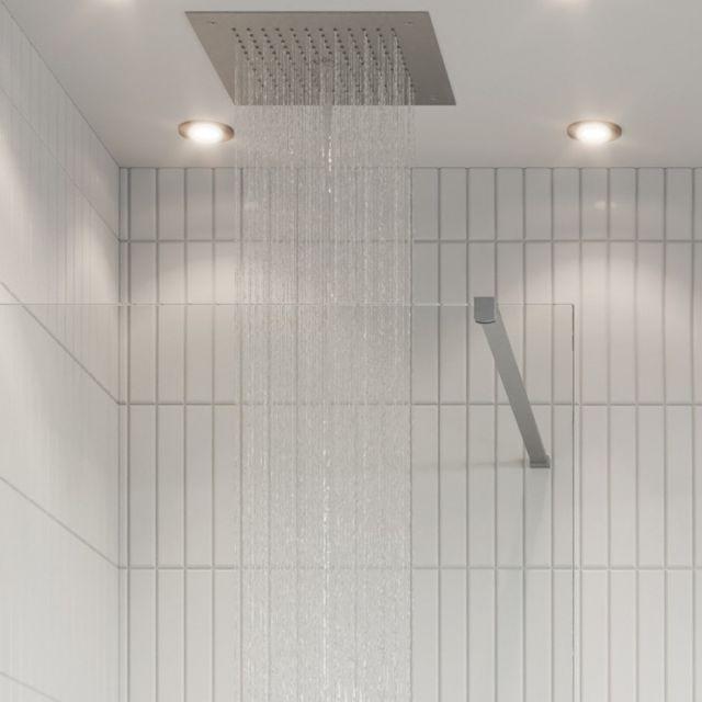 Crosswater Gallery 10 Brushed Stainless Steel Walk Through Wetroom Panel