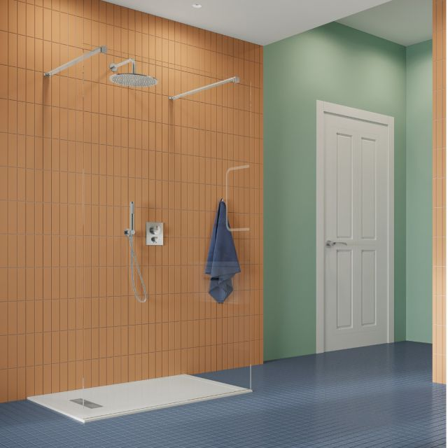 Crosswater Gallery 10 Polished Stainless Steel Walk Through Wetroom Panel
