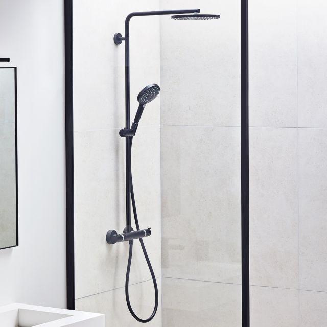 hansgrohe Raindance Select S Showerpipe 240 1Jet with PowderRain Matt Black - 88102122