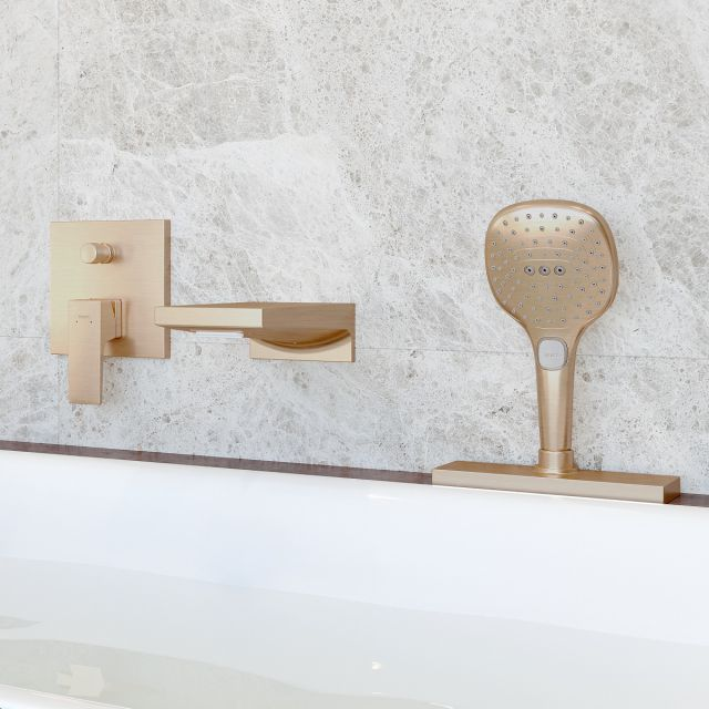 hansgrohe Metropol Waterfall Bath Filler and Shower Set in Brushed Bronze