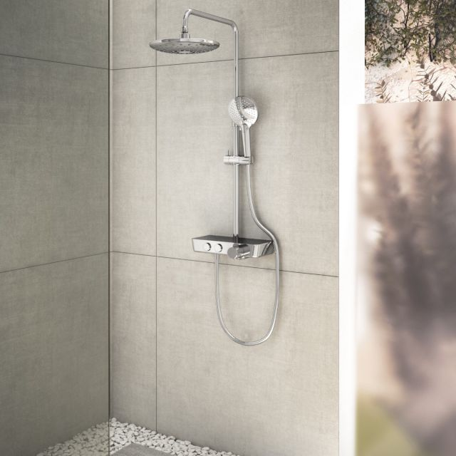 VitrA Aquacontrol Charm 240 Thermostatic Shower Column - A47203