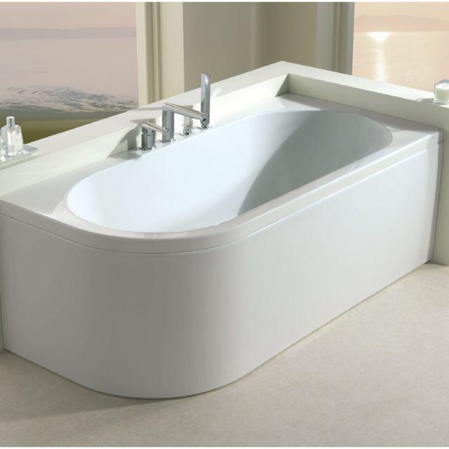 Carron Status Duo Offset Curved Corner Bath - 23.4491R