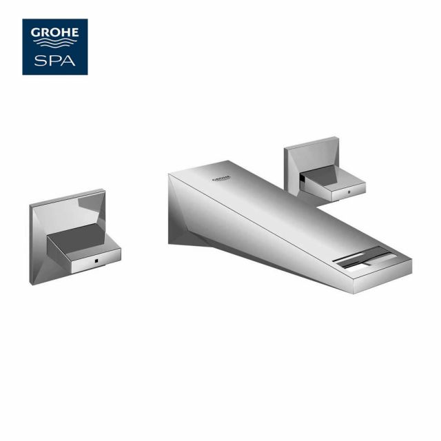 Grohe Allure Brilliant 3-hole Wall Mounted Basin Mixer 161mm