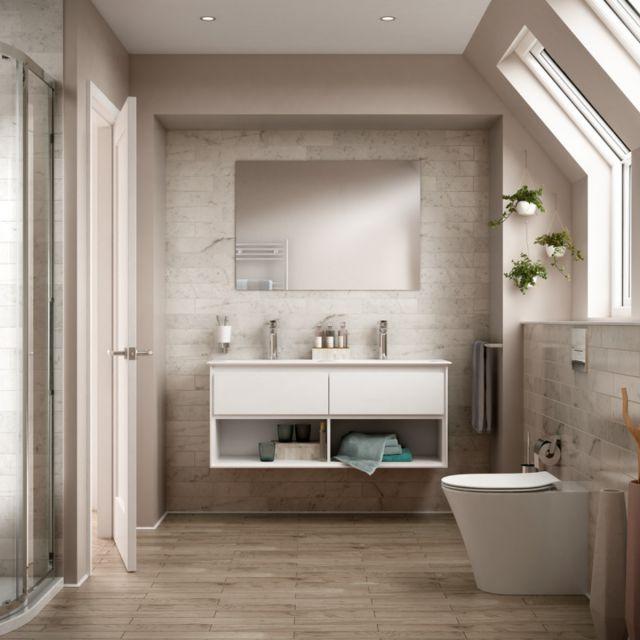 Ideal Standard Concept Air Cube 124cm Double Vanity Basin - E075101