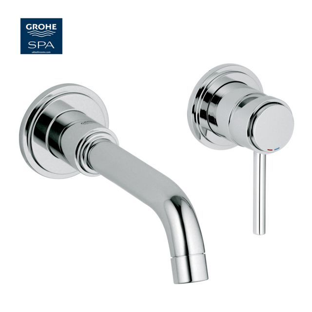 Grohe Atrio C-Spout 2 Hole Wall-mounted Basin Mixer Tap