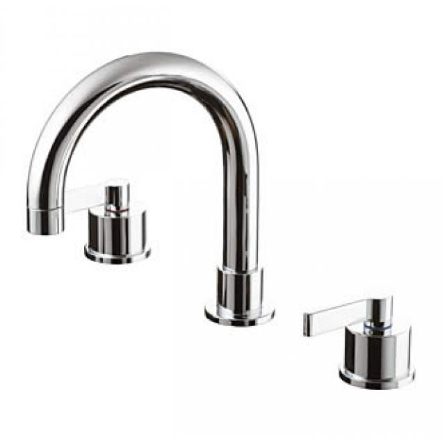 Ideal Standard Silver 3 Hole Deck Bath Filler