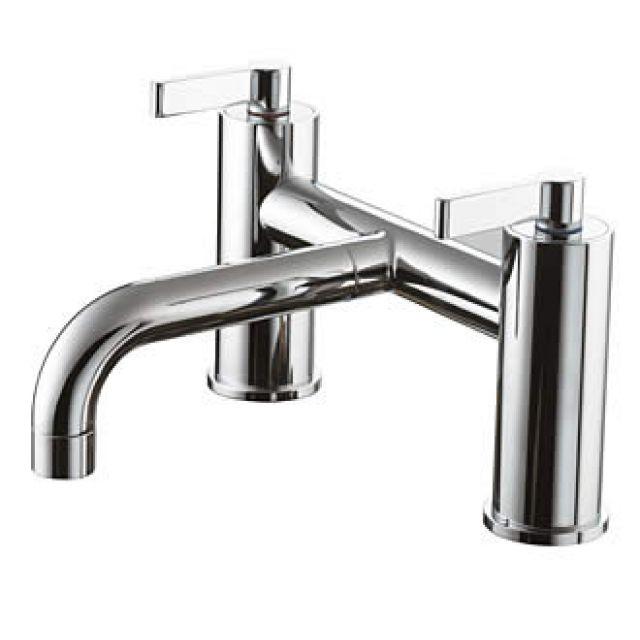 Ideal Standard Silver Deck Mounted Bath Mixer
