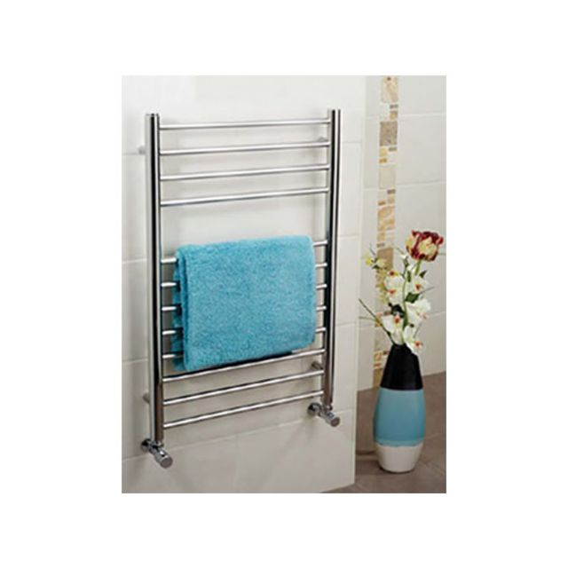 Apollo Garda Polished Stainless Steel Towel Warmer 600mm