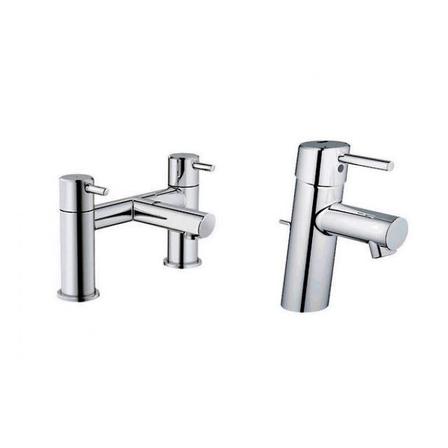 grohe concetto basin mixer and bath filler uk bathrooms. Black Bedroom Furniture Sets. Home Design Ideas