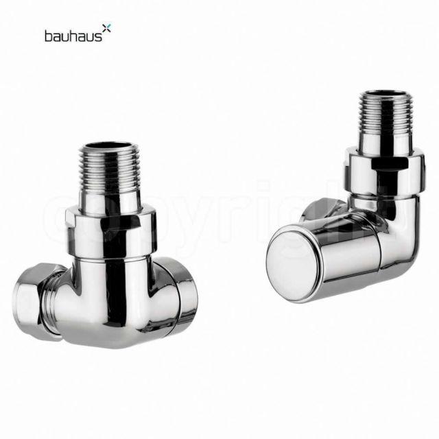 Bauhaus Round Corner Radiator Valve Set