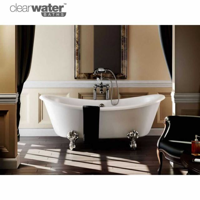 Clearwater Bateau Freestanding Roll Top Bath UK Bathrooms