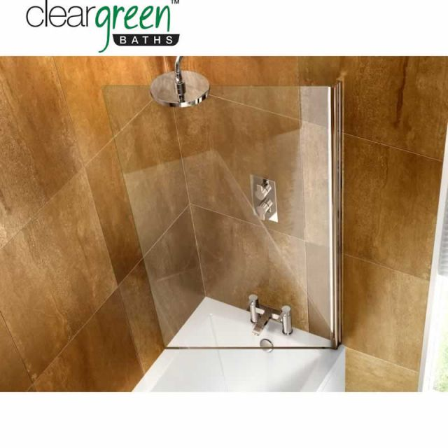 ClearGreen Hinged Bath Screen