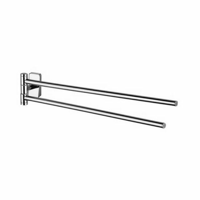 Inda Storm Adjustable Double Towel Rail
