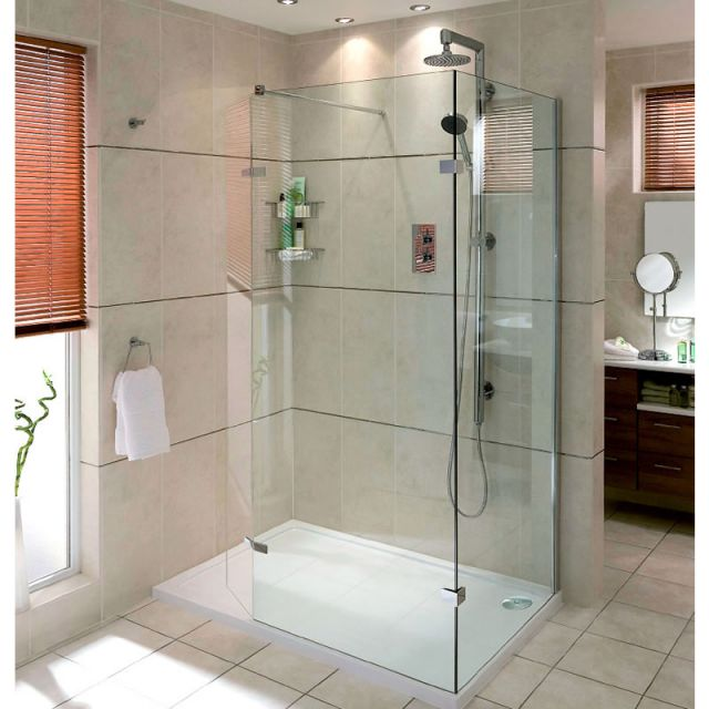Aqata Spectra Walk-in Shower Enclosure With Hinged Panel