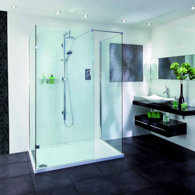 Aqata Spectra Walk-In 3 sided Shower Enclosure SP415