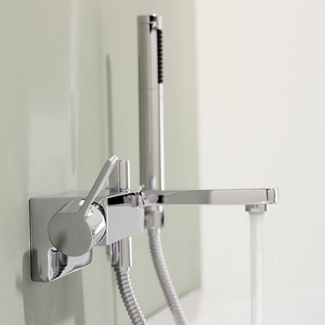 Dornbracht Lulu Wall Mounted Single Lever Bath Mixer Tap with Shower Set - 33233710-00