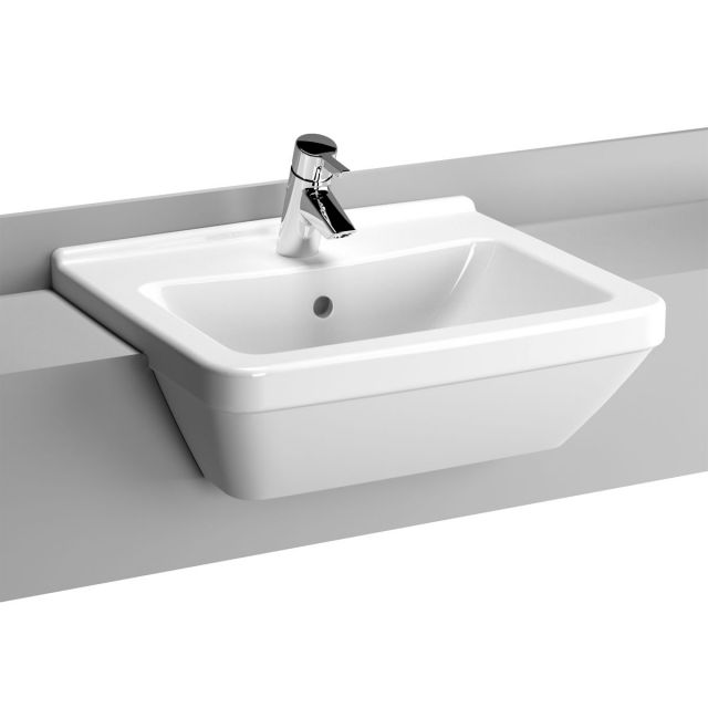Vitra S50 Large Square Semi-recessed Basin