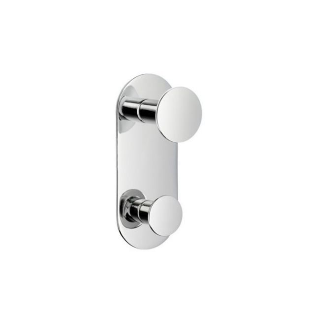 Smedbo Time Vertical Double Towel Hook